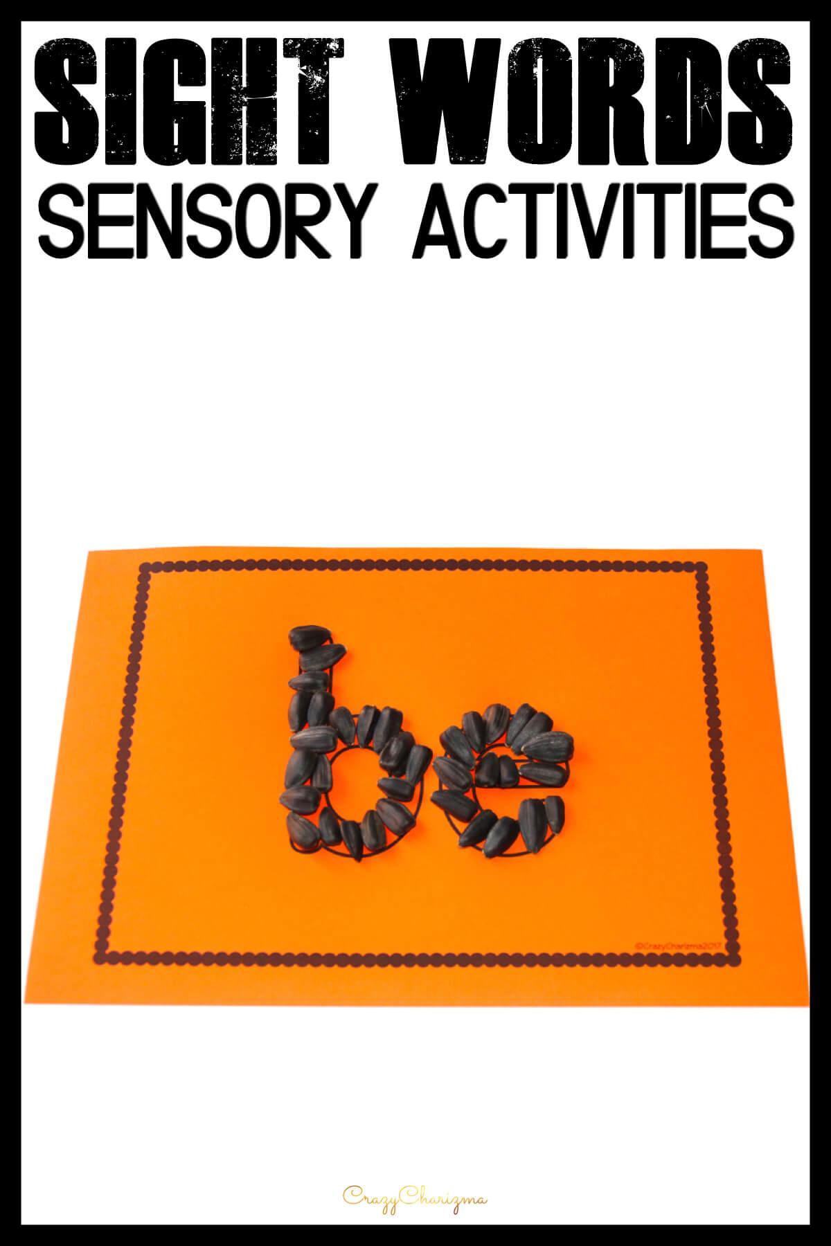 Sight Word Activities | Free Printables | CrazyCharizma
