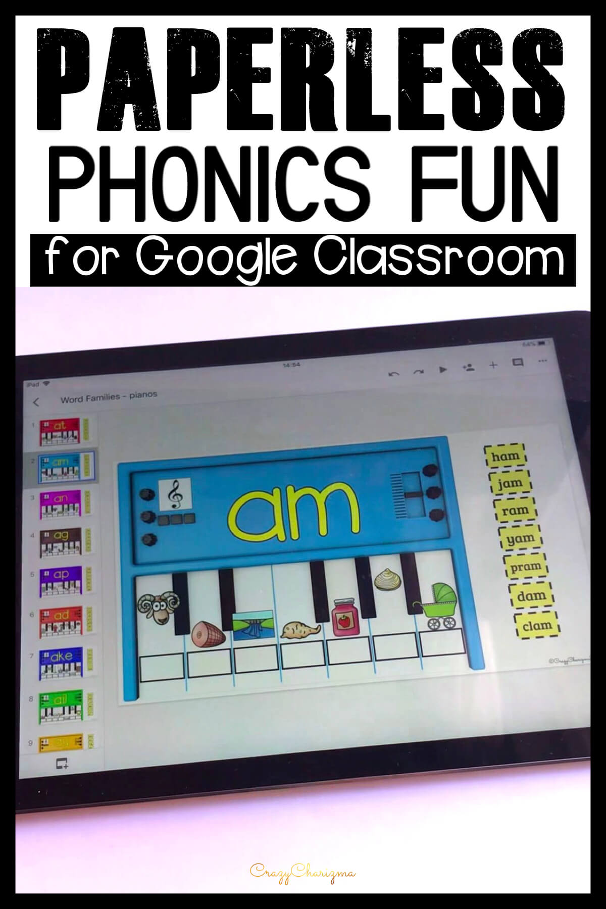 Google Classroom Activities for Kindergarten | Do you need to practice phonics on iPads, Chromebooks or smartboards? Use these activities for Google Classroom™. The games are perfect for 1:1 work, during your literacy block, daily 5, guided reading, spelling, RTI, or during literacy centers.