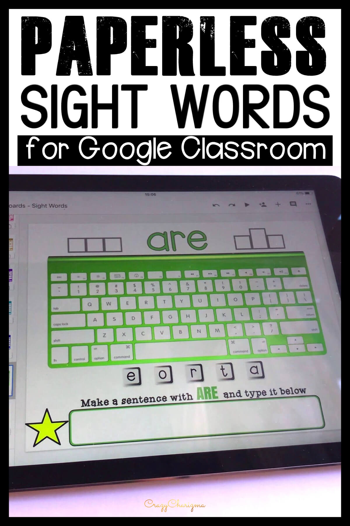 Google Classroom Activities for Kindergarten   Sight Words Games: Grab paperless resources to practice sight words in a fun way. Let kids get engaged with word work and play with high-frequency words. They will love typing words, learn the keyboard, and build sentences.