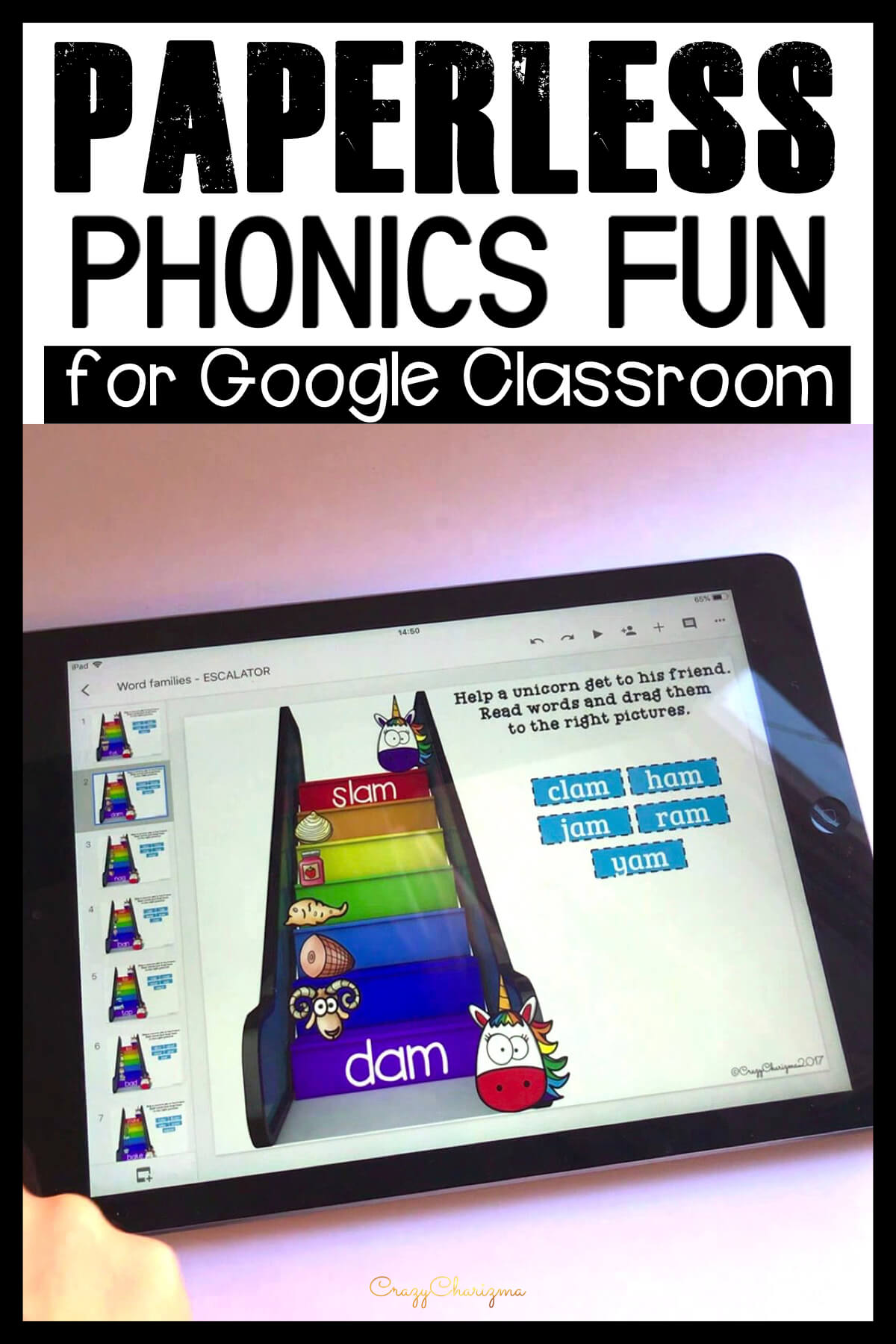 Google Classroom Activities for Kindergarten | Phonics Games: Need hands-on activities to practice CVC words? Grab these activities for Google Classroom. They are perfect for literacy centers, whole group, small group, homework, guided reading groups and 1:1 work. Get kids engaged with phonics.