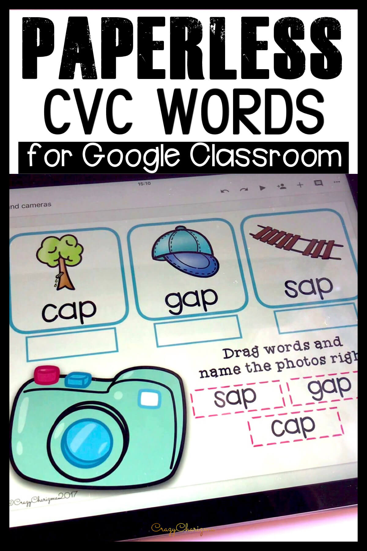 Looking for engaging CVC words kindergarten activities? Get these word work centers for Google Classroom. Perfect for guided reading groups, homework and 1:1 work.