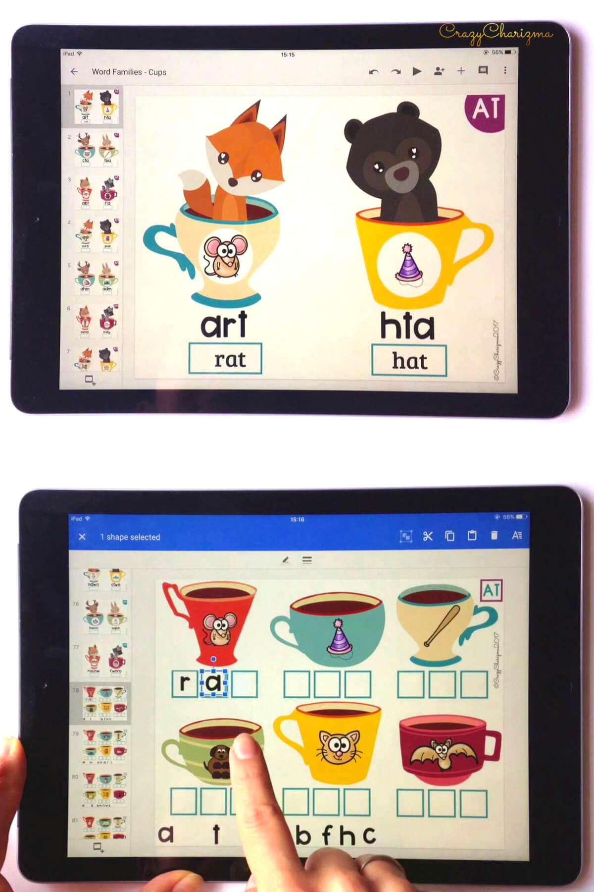 Google Classroom Activities for Kindergarten | Phonics Games: Practice CVC words, CVCe words and other phonics in a fun way! Train kids to type words and add the missing initial/medial/final letters to the words. Google Classroom in kindergarten can be fun!