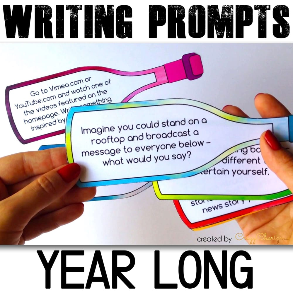 Don't have time to create your own journal prompts or search them on the internet? Use 195 versatile writing prompts every single day. Perfect for centers, bell ringer activities, prep for writing tests, class discussions or writing assignments at home.