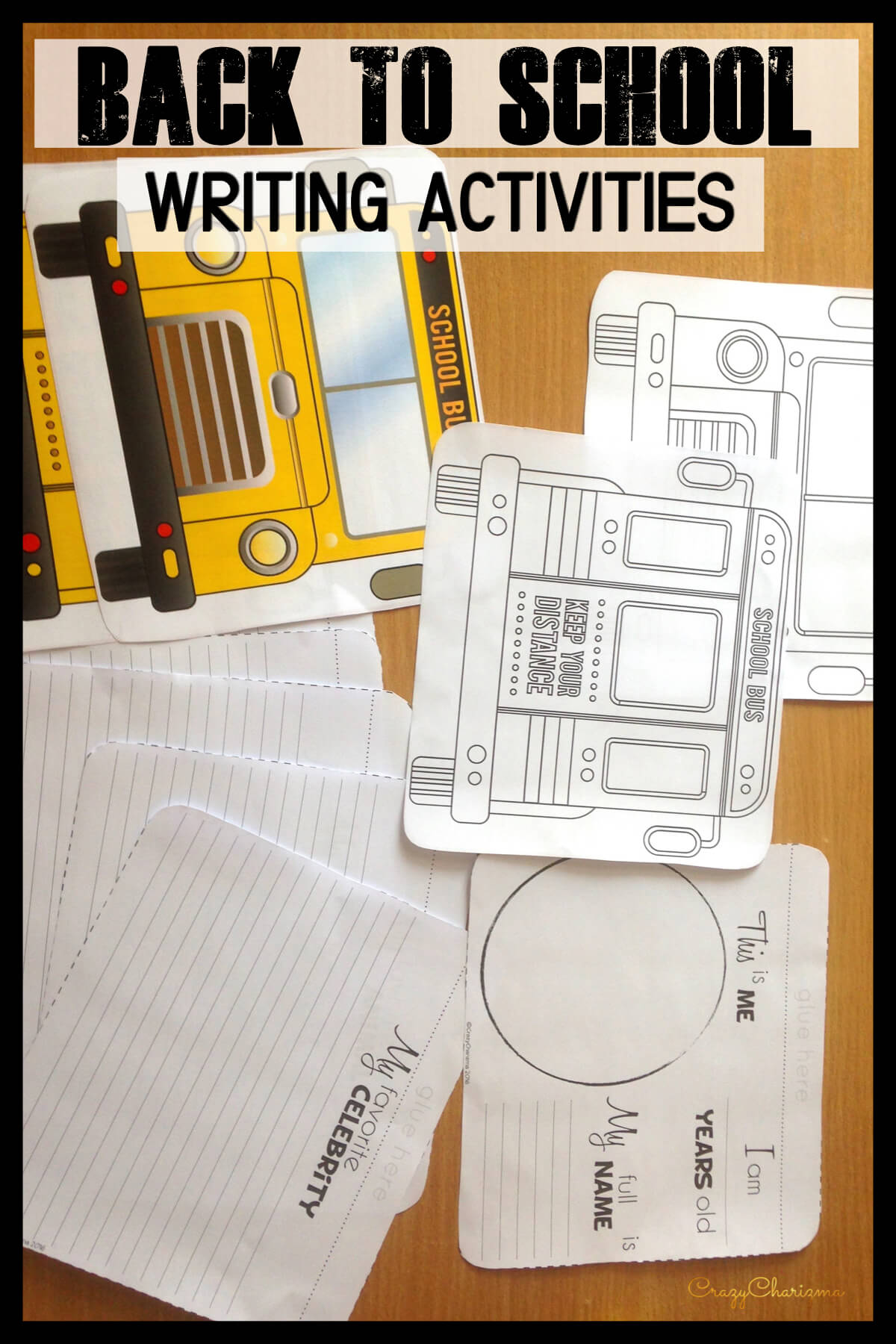 Would you like to have fun during Back To School lessons? Use these interactive BUSes. Kids of primary and elementary school will love to create a SMALL or a BIG BUS and practice writing.