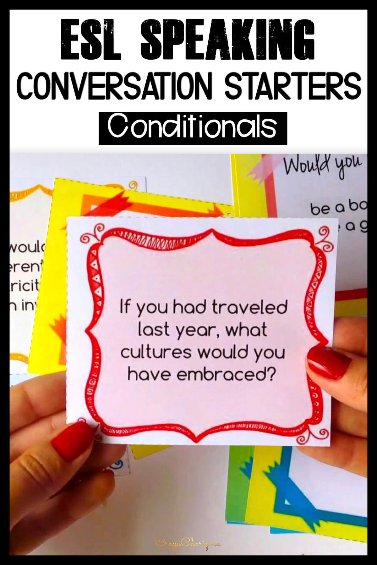 It's always hard to get ESL students to speak. Help them lose the fear of speaking and build conversational confidence in a fun way! Use these Conditionals questions. Practice both speaking and grammar!