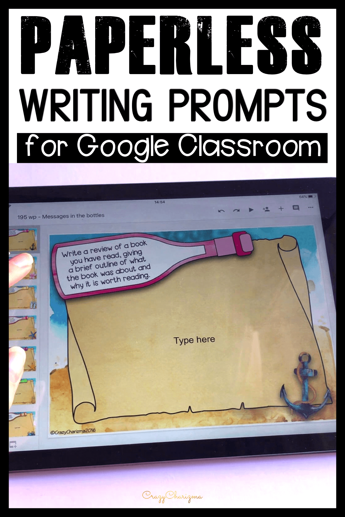 Need digital resources for quick student writing activities? Assign these prompts easily in Google Classroom, and let the students start writing right away! Monitor their progress, answer questions and offer feedback as they write!