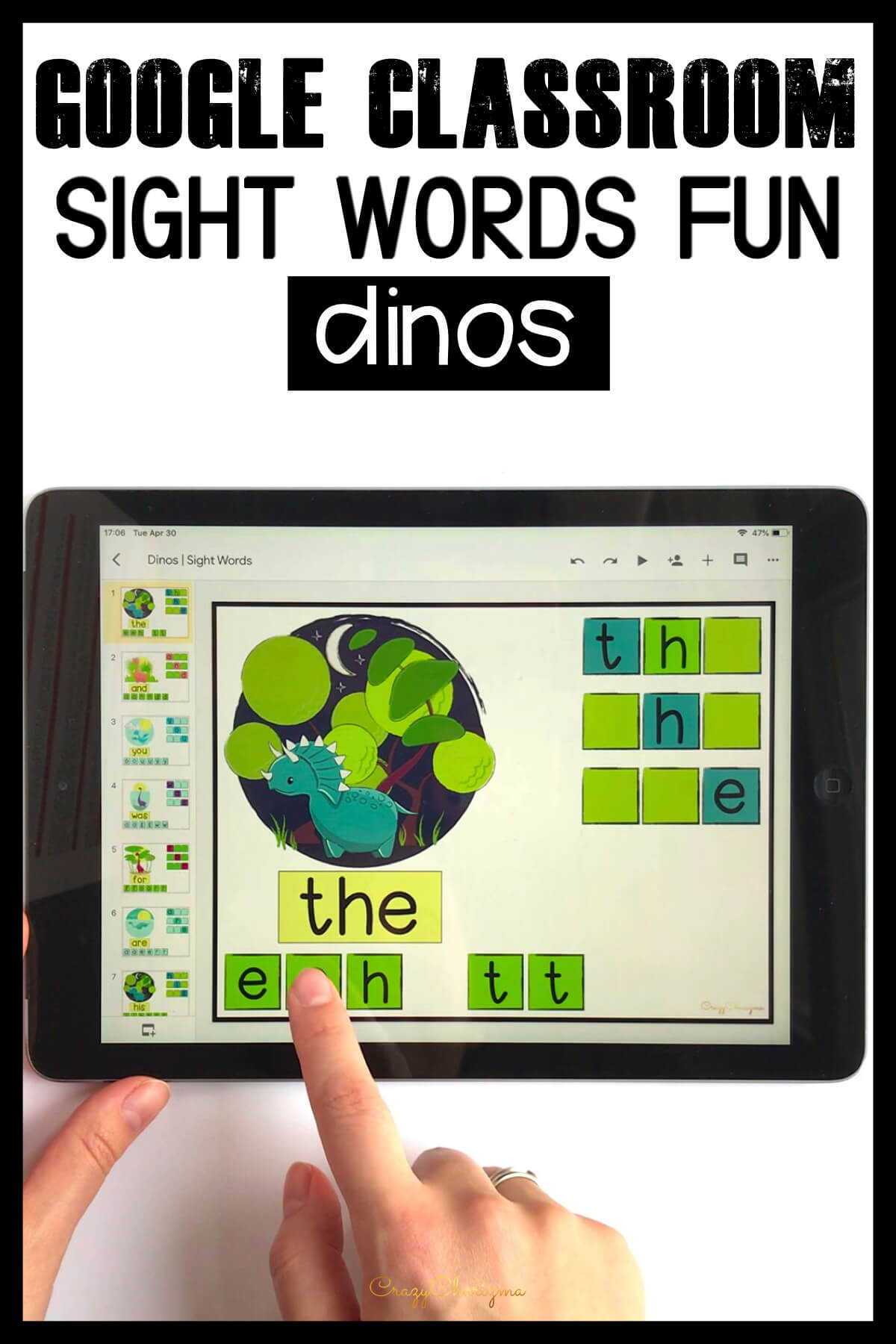 Google Classroom Activities for Kindergarten | Sight Words Games: Need quick, fun and easy to use sight words games? Grab these Google Classroom activities for kindergarten to practice sight words. Engage kids with tech and reading at the same time!