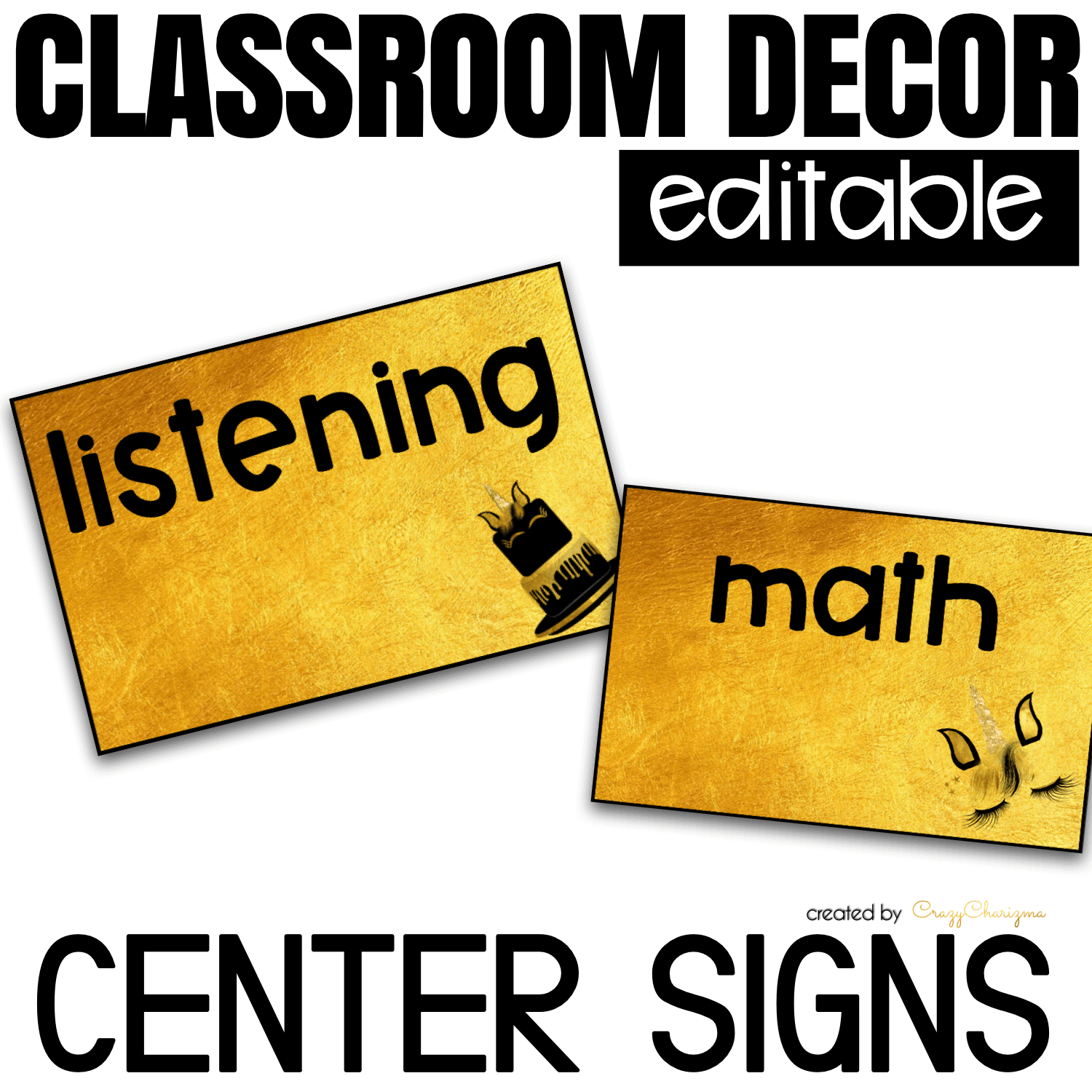 Looking for bright and clear EDITABLE center signs? Spice your classroom with this visually appealing classroom decor!