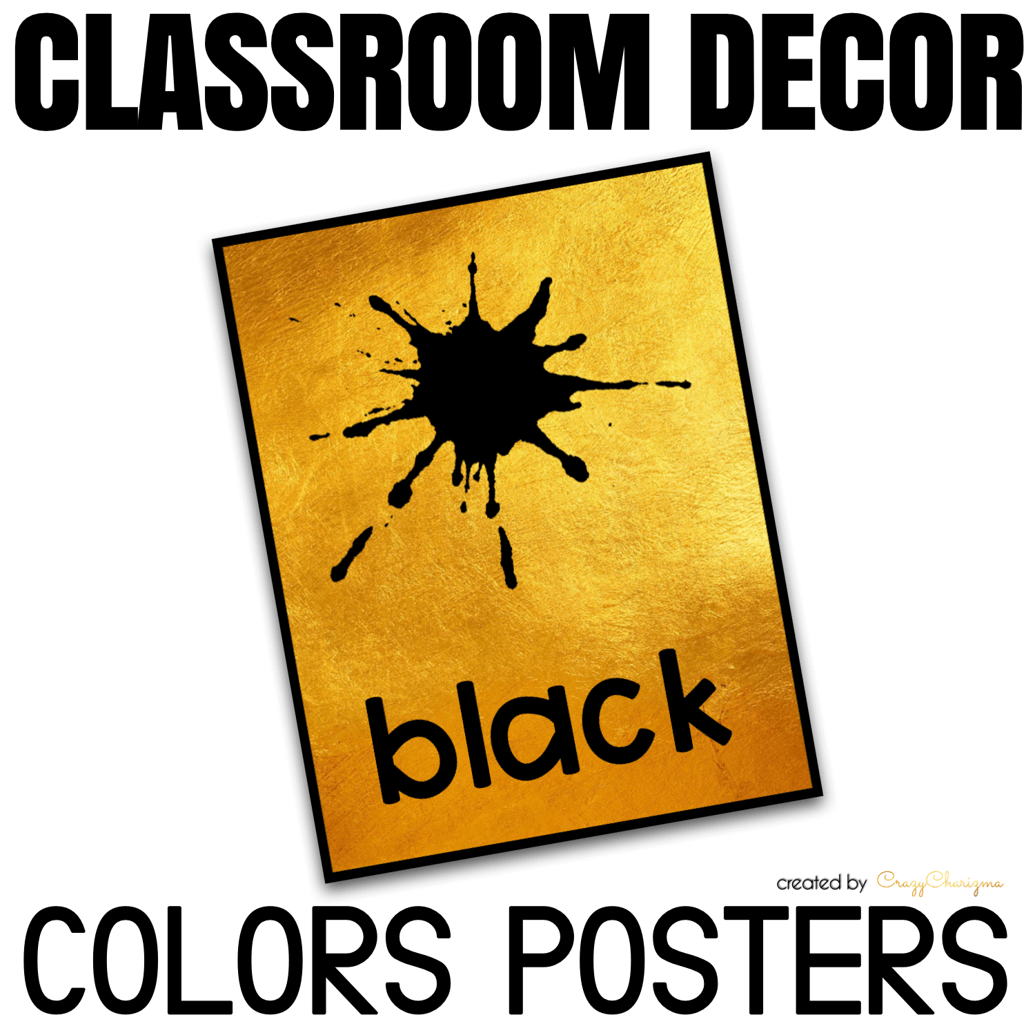 Looking for bright and clear colors posters? Spice your classroom with this visually appealing classroom decor!
