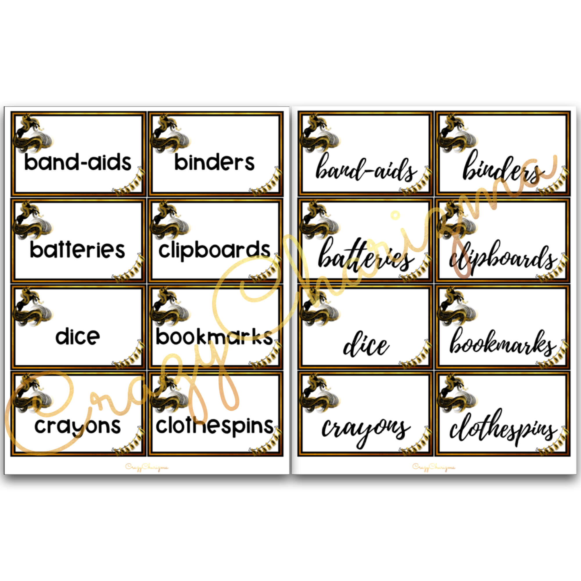 Looking for bright and clear EDITABLE supply labels? Spice your classroom with this visually appealing classroom decor!