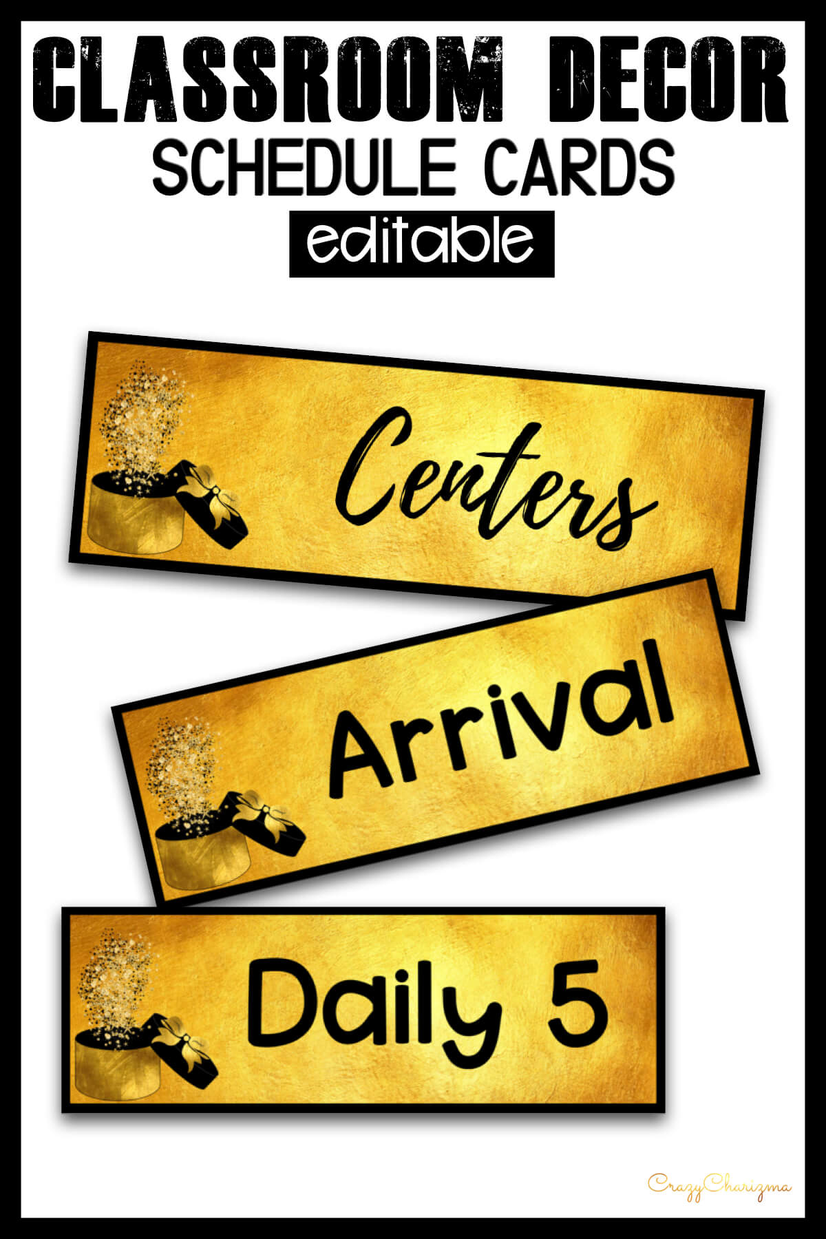 Looking for bright and clear schedule cards? Spice your classroom with this visually appealing classroom decor!