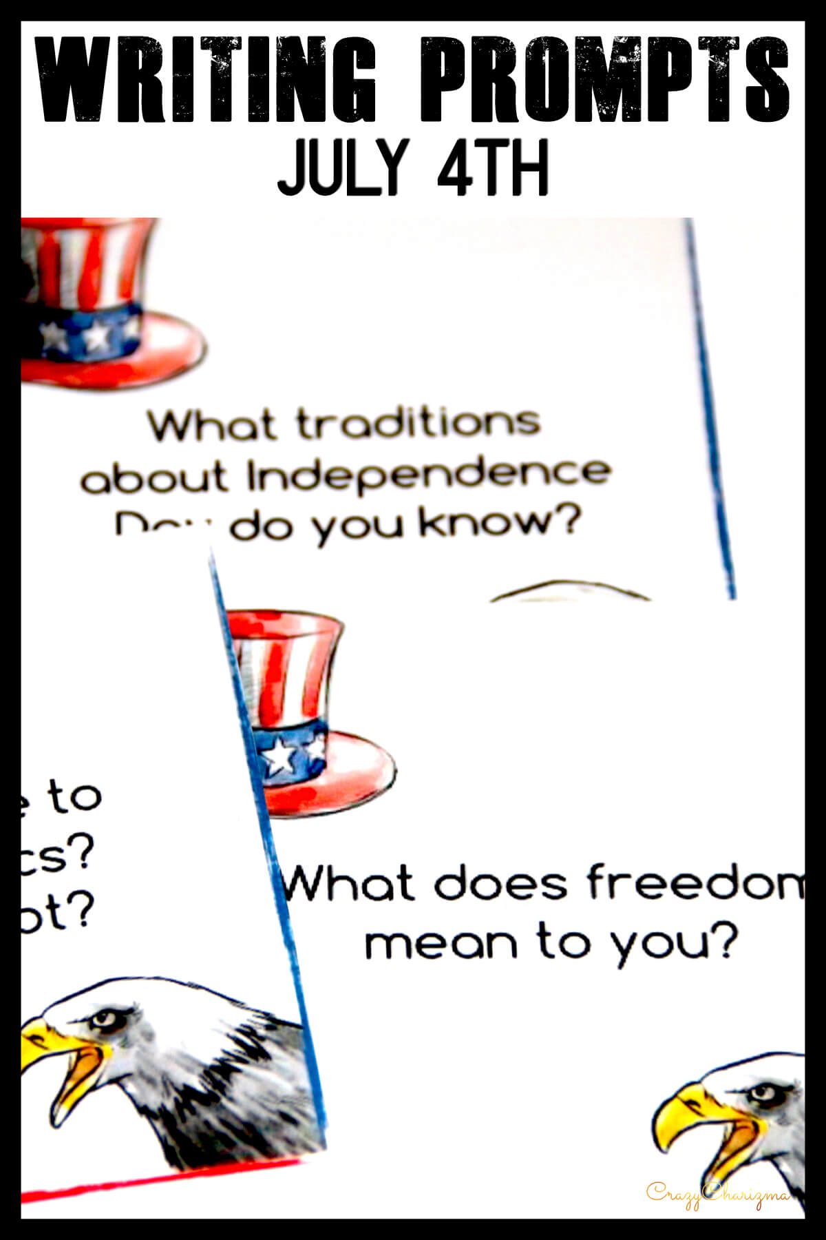 Celebrate Independence Day (July 4) in your classroom and engage students with writing. These writing prompts are easy to prepare and you'll be able to use them every year! How fun!