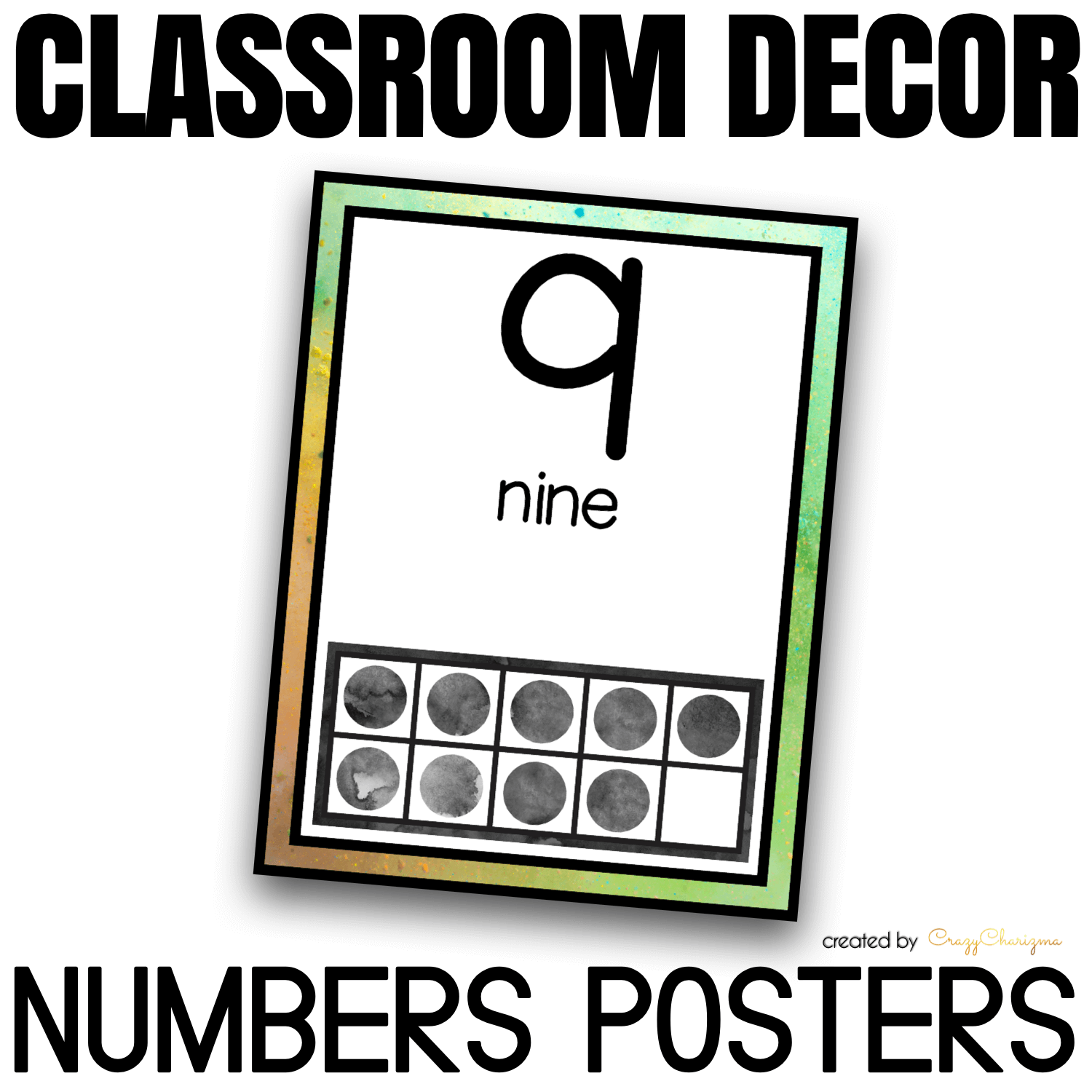 Looking for bright and clear numbers posters? Spice your classroom with this visually appealing SPLASH classroom decor!