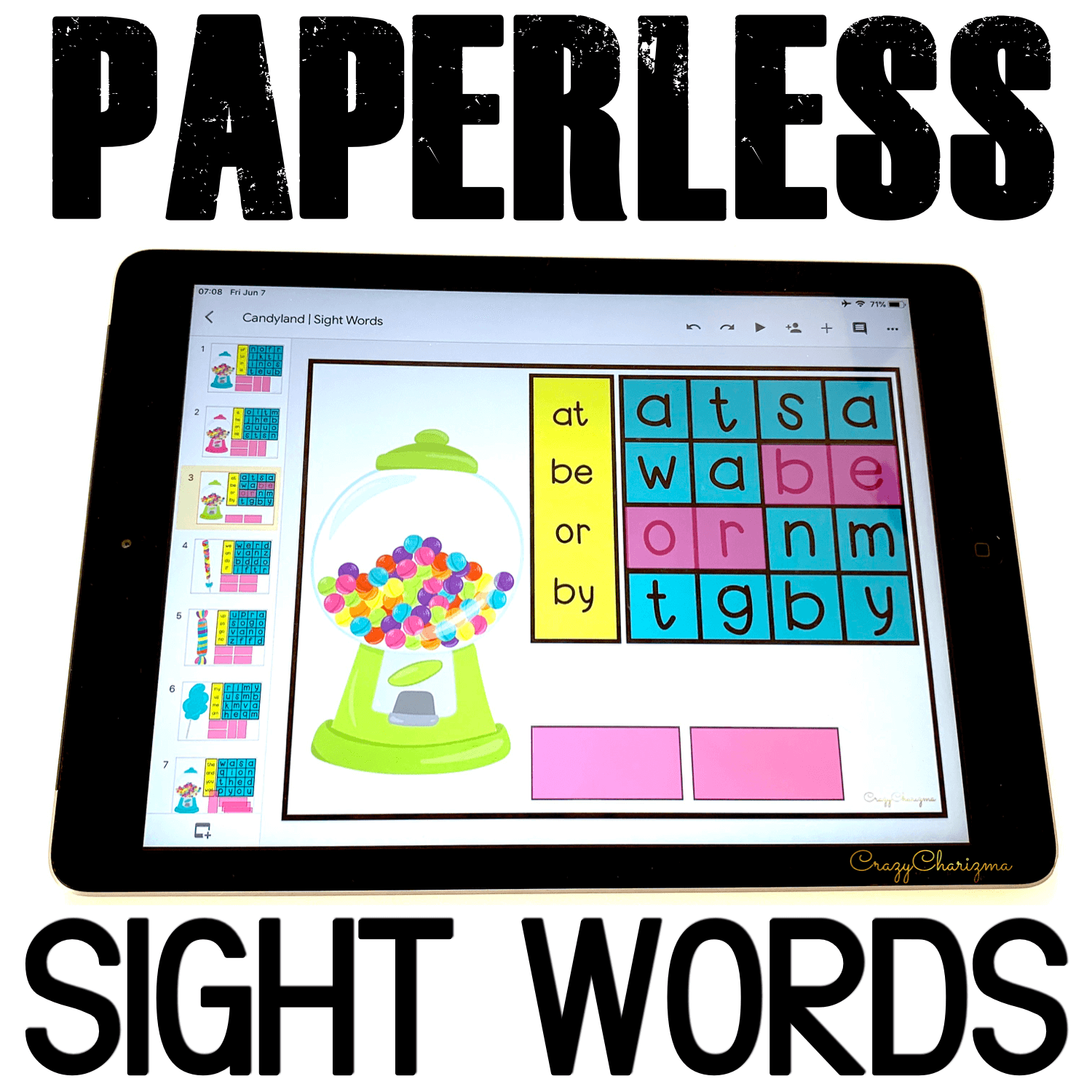 Google Classroom Activities for Kindergarten | Sight Words Games: Your students love word searches? Use them to teach sight words on iPads / Chromebooks / laptops. No print is required in Google Classroom!