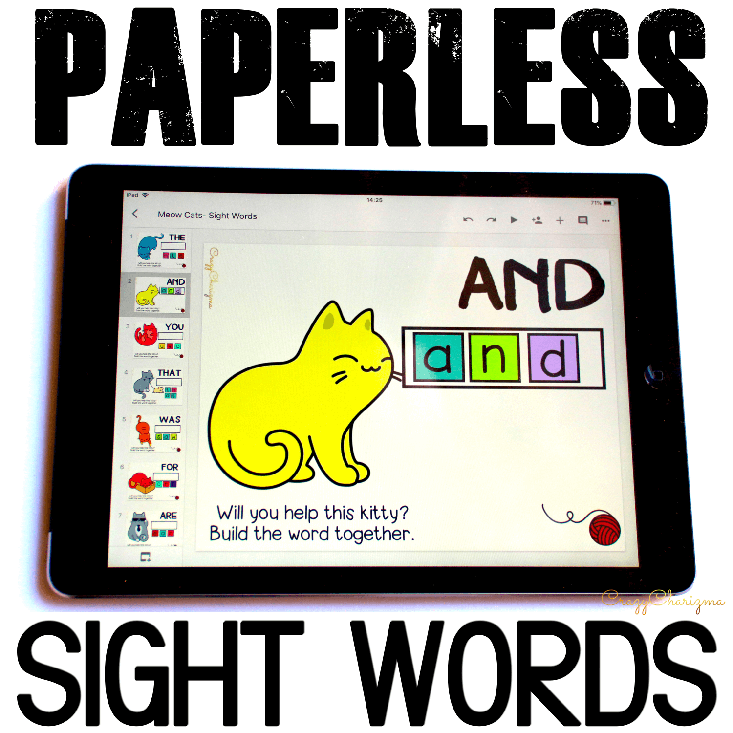 Google Classroom Activities for Kindergarten. Sight Words Games. Using Google Classroom in kindergarten? Then you'll definitely need engaging and fun activities to practice sight words! Check out these quick sight words games. #CrazyCharizma #GoogleClassroom #GoogleClassroomKindergarten #HandsOnActivitiesForKids #PaperlessClassroomElementary #SightWordActivities