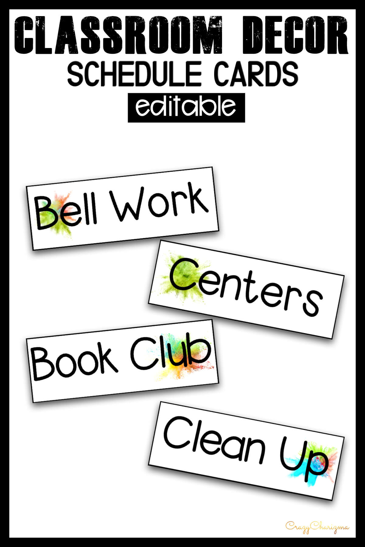 Looking for bright and clear schedule cards? Spice your classroom with this visually appealing SPLASH classroom decor!
