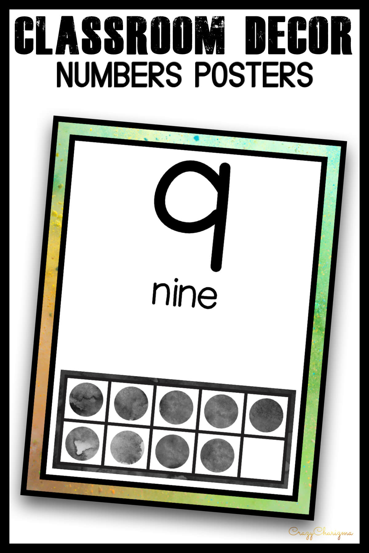 Looking for bright and clear numbers posters? Spice your classroom with this visually appealing classroom decor!