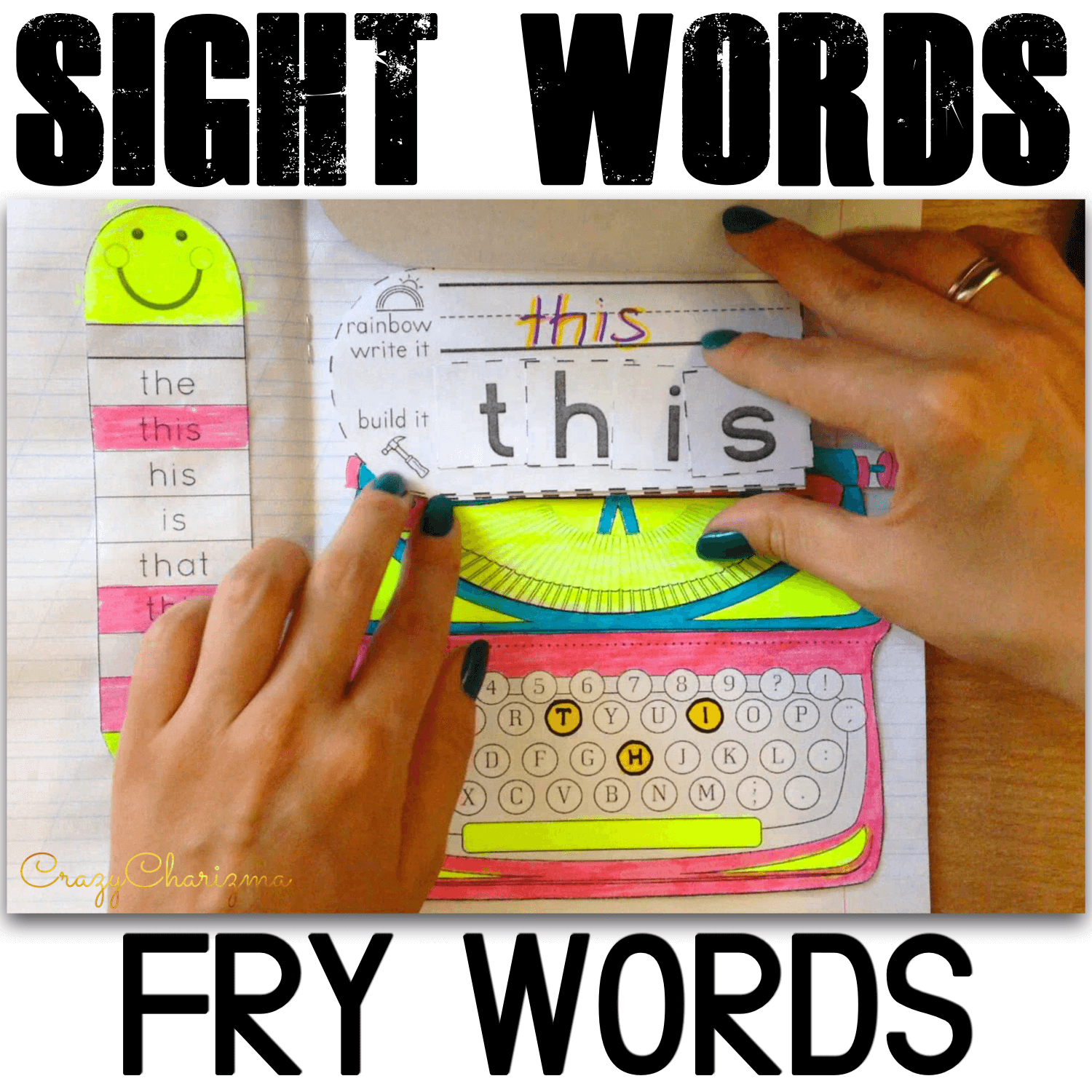 Use these typewriters with your kids as engaging reading strategies and introduce, practice and review Fry's 101-200 words. The buyer said - This was an excellent way to gain an uninterested student's attention.