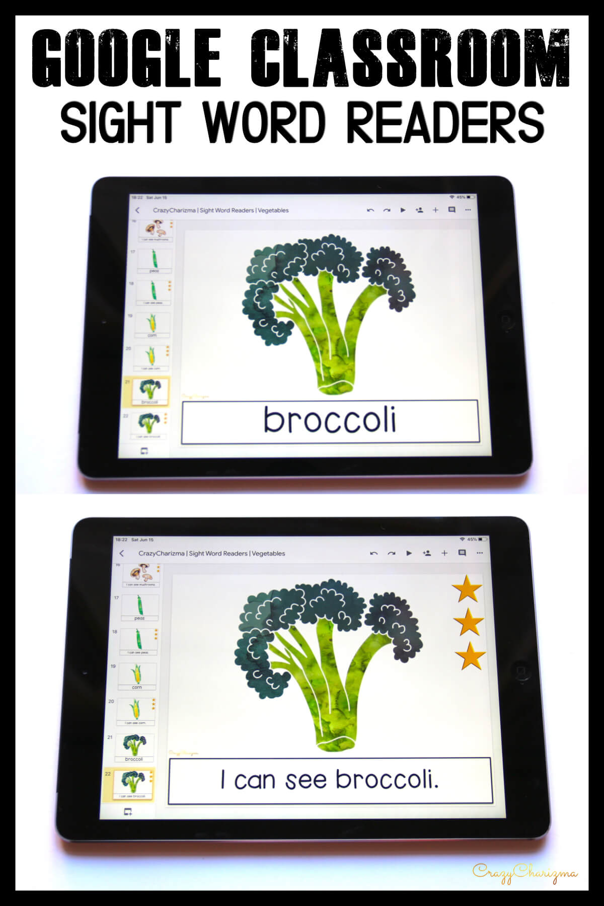 Looking for engaging sight word readers for kindergarten? Engage kids with sight words and food. Use as paperless practice for Google Classroom or print and read!