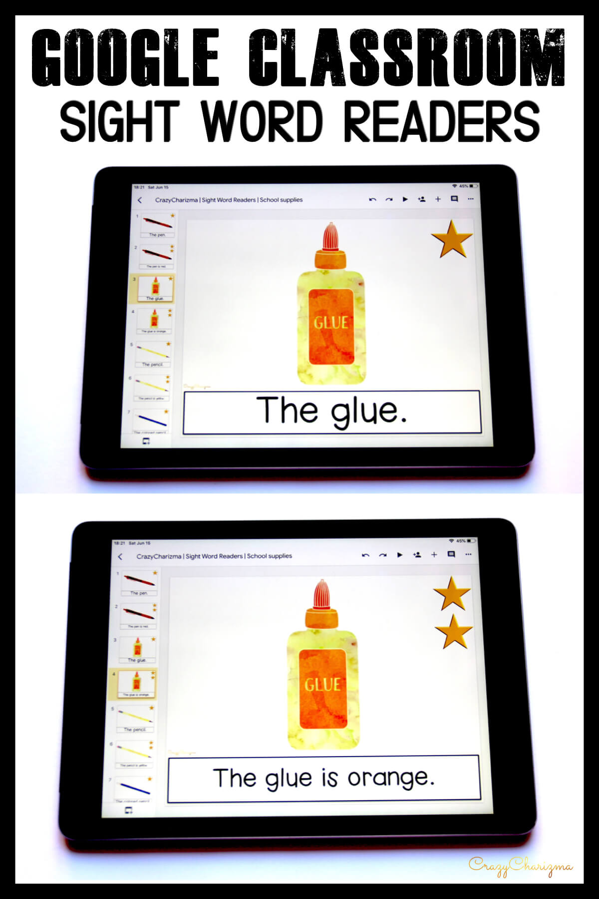 Looking for engaging sight word readers for kindergarten? Engage kids with sight words and back to school vocabulary. Use as paperless practice for Google Classroom or print and read!