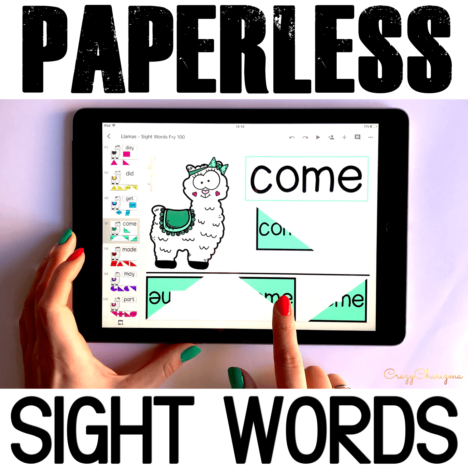 Google Classroom Activities for Kindergarten. Sight Word Games. Do your kids love llamas? Let these cuties teach and practice sight words with paperless activities. Make it fun and review high frequency words with Google Classroom! #CrazyCharizma #GoogleClassroom #GoogleClassroomKindergarten #HandsOnActivitiesForKids #PaperlessClassroomElementary #SightWordActivities