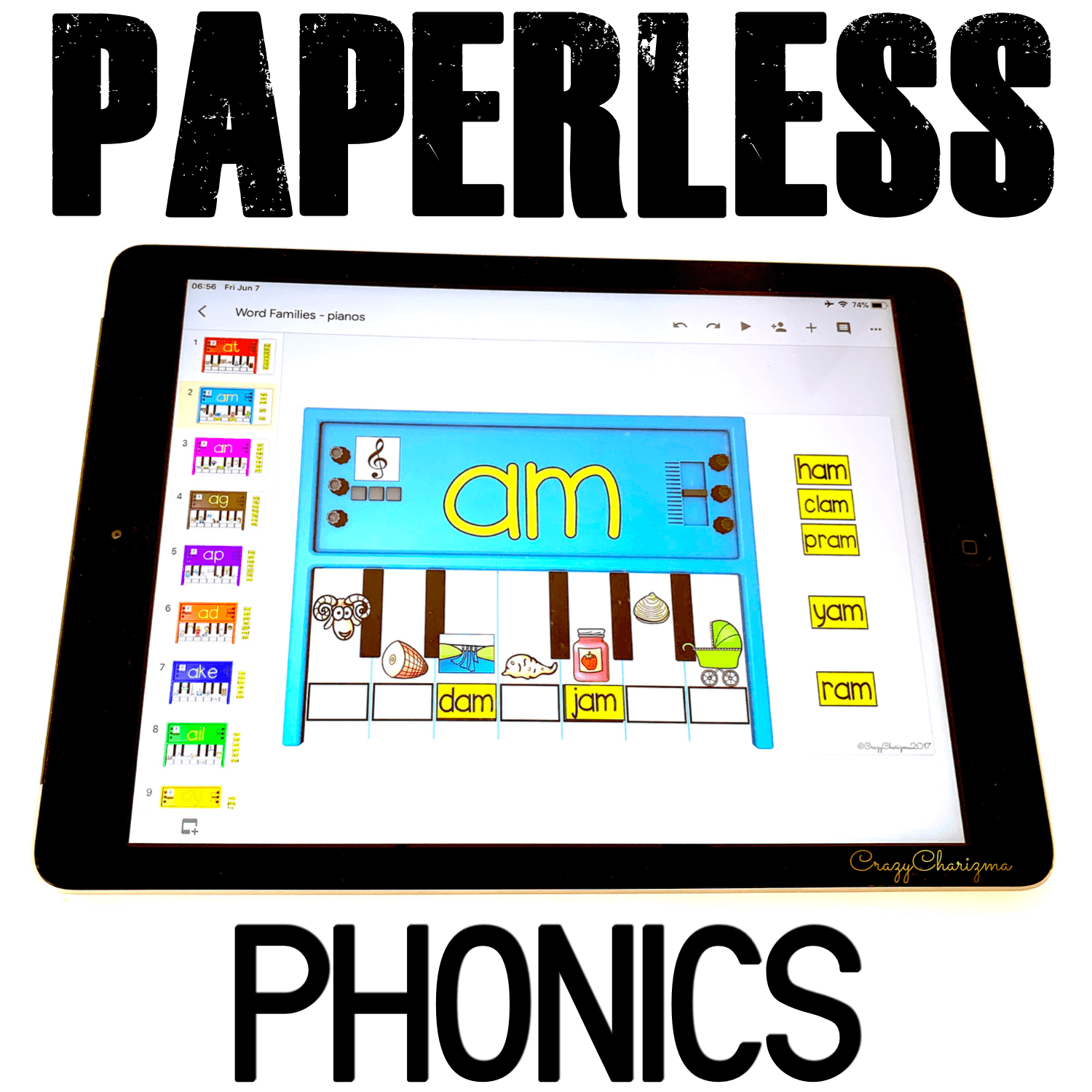 Google Classroom Activities for Kindergarten. Do you need to practice phonics on iPads, Chromebooks or smartboards? Use these activities for Google Classroom™. The games are perfect for 1:1 work, during your literacy block, daily 5, guided reading, spelling, RTI, or during literacy centers. #CrazyCharizma #GoogleClassroom #GoogleClassroomKindergarten #HandsOnActivitiesForKids #PaperlessClassroomElementary #SightWordsActivities