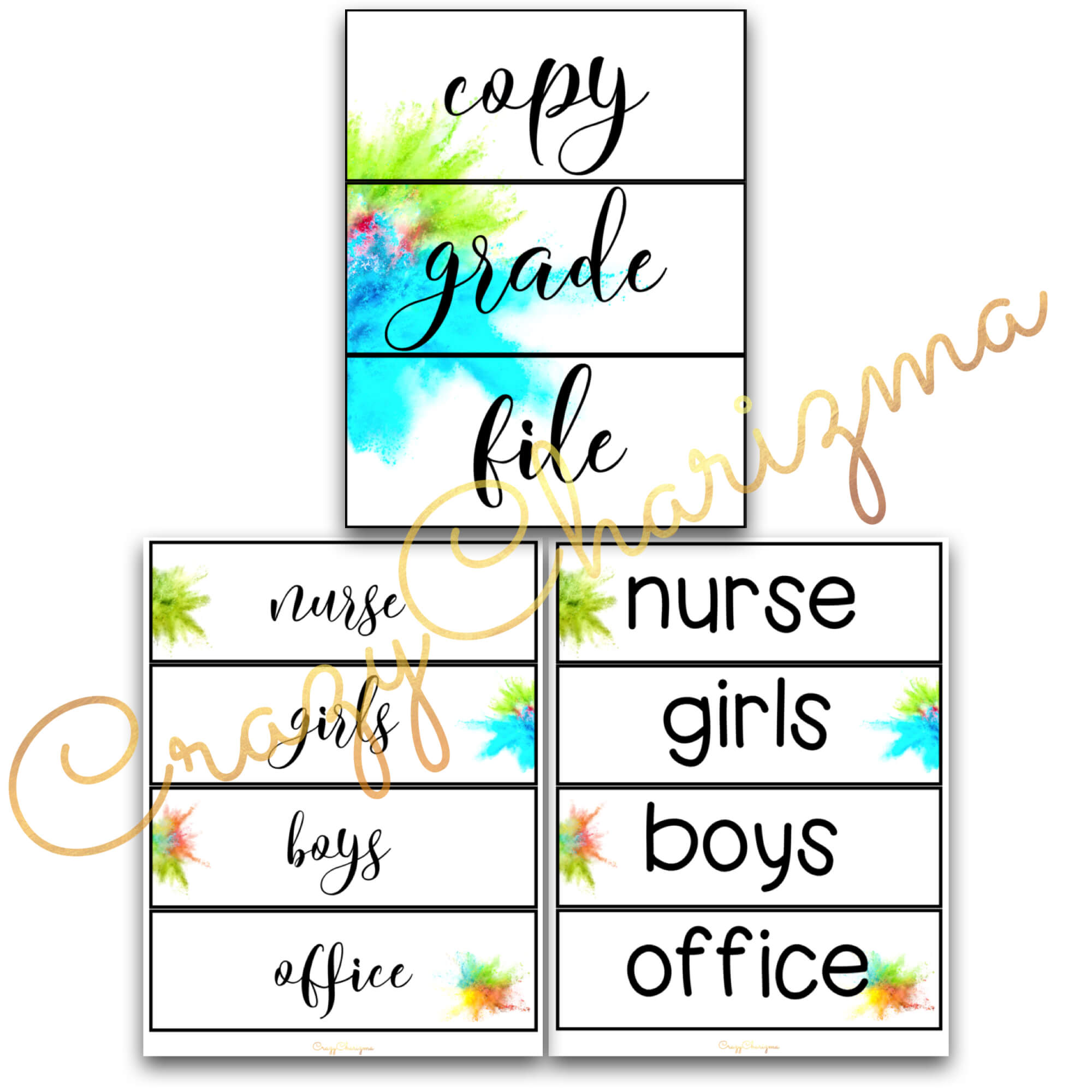 Looking for bright and clear classroom decor? Spice your classroom with these beautiful EDITABLE hall passes, labels, team signs and pencil tags.