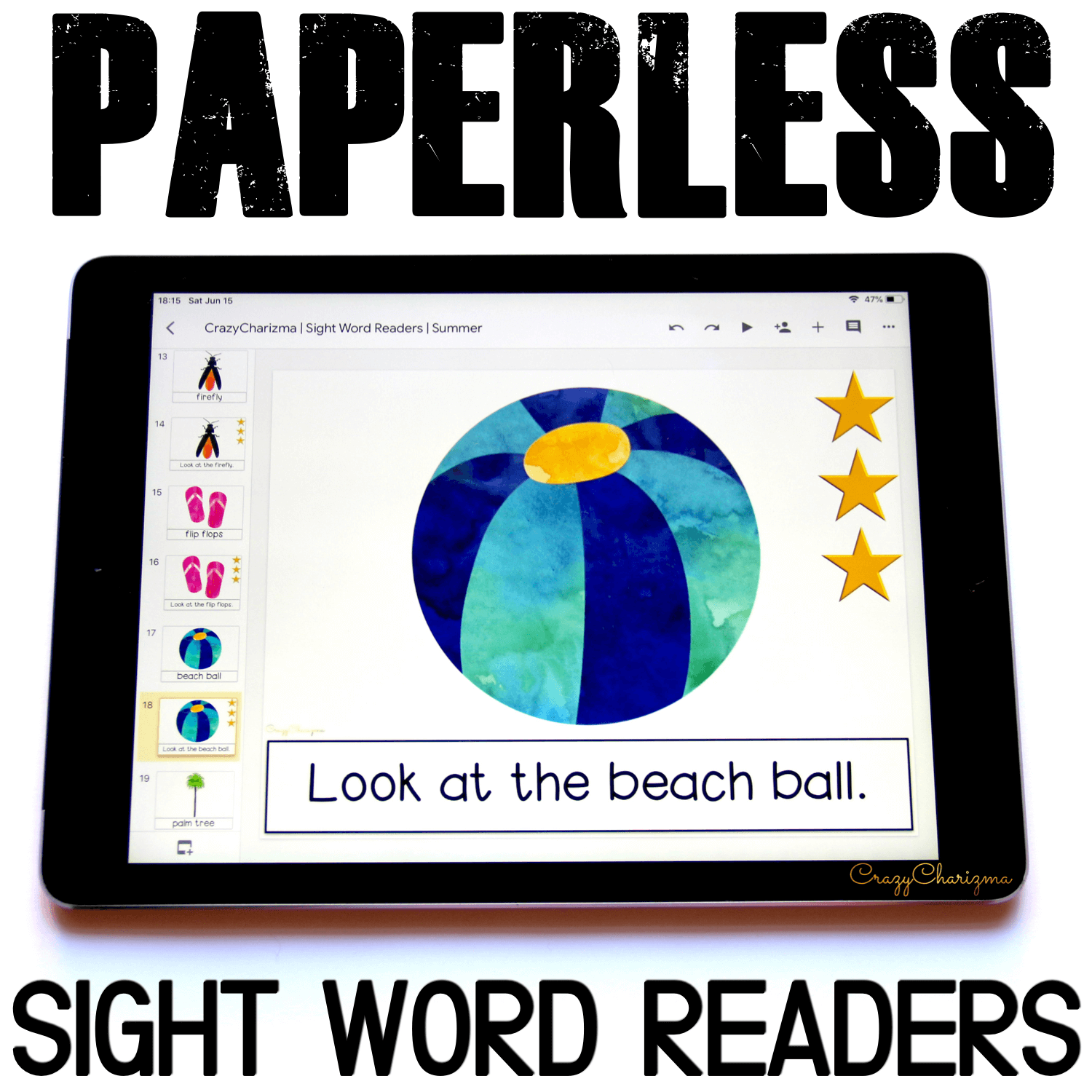 Looking for engaging sight word readers for kindergarten? Engage kids with sight words and summer words. Use as paperless practice for Google Classroom or print and read!