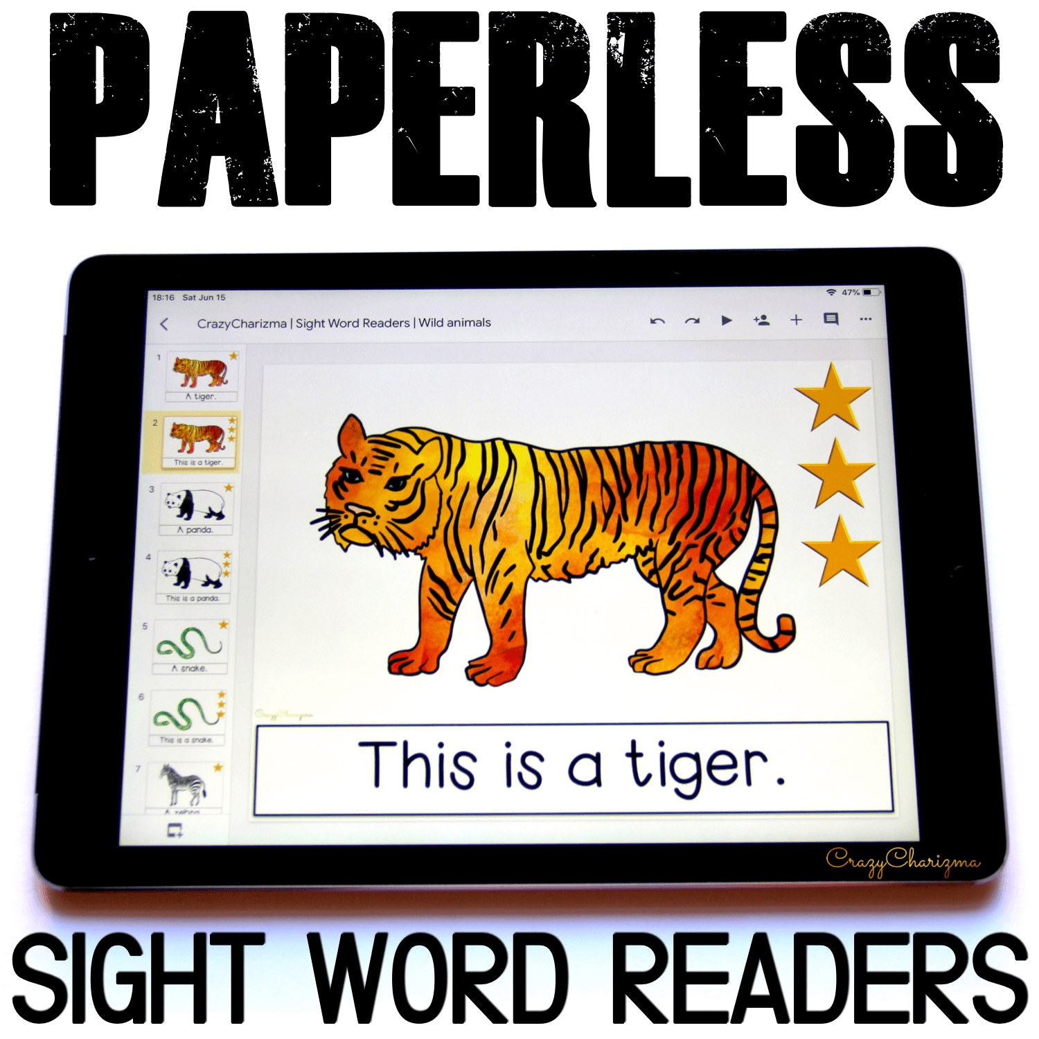 Need engaging sight word readers for kindergarten? Engage kids with sight words books and wild animals. Use as paperless practice for Google Classroom or print and read!
