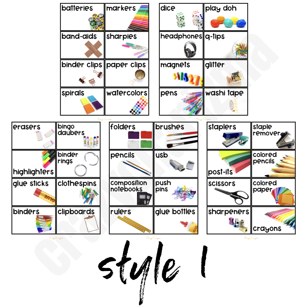 Looking to brighten up your classroom this year? This set will add some fresh and clean style to your classroom. Included in this resource are 40 pre-made school supply labels in 2 styles! They are perfect to incorporate into your classroom.