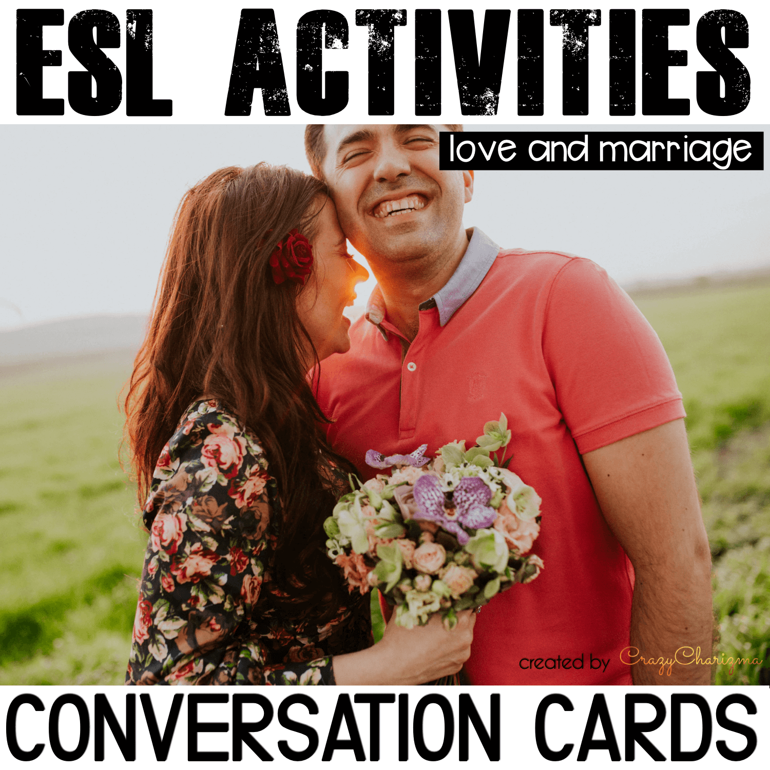 Looking for conversation questions to engage adults and teenagers to speak more? Look no further, take a look at these Love and Marriage conversation starters. They are perfect for Pre-Intermediate to Advanced level ESL students! Can be also used with ELA / ELL students.