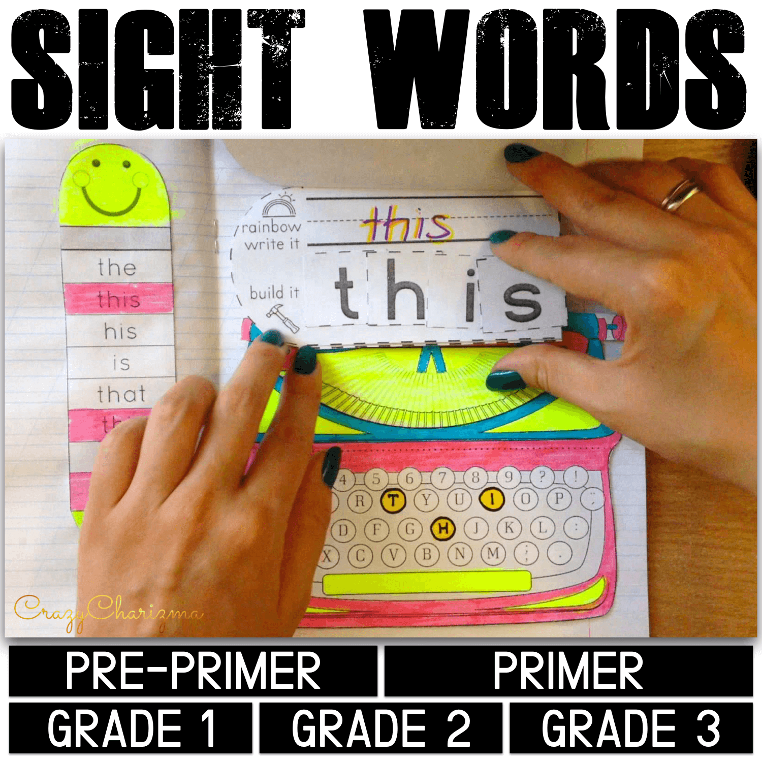 Keep your students excited about learning and practicing their sight words! This Interactive Notebook for Sight Words activities is a fun and hands-on way to cover 220 high frequency words. Increase reading fluency for your struggling readers, ELA's and special needs students. The packet is perfect for advanced prek, kindergarten, first, second and third grade kids.