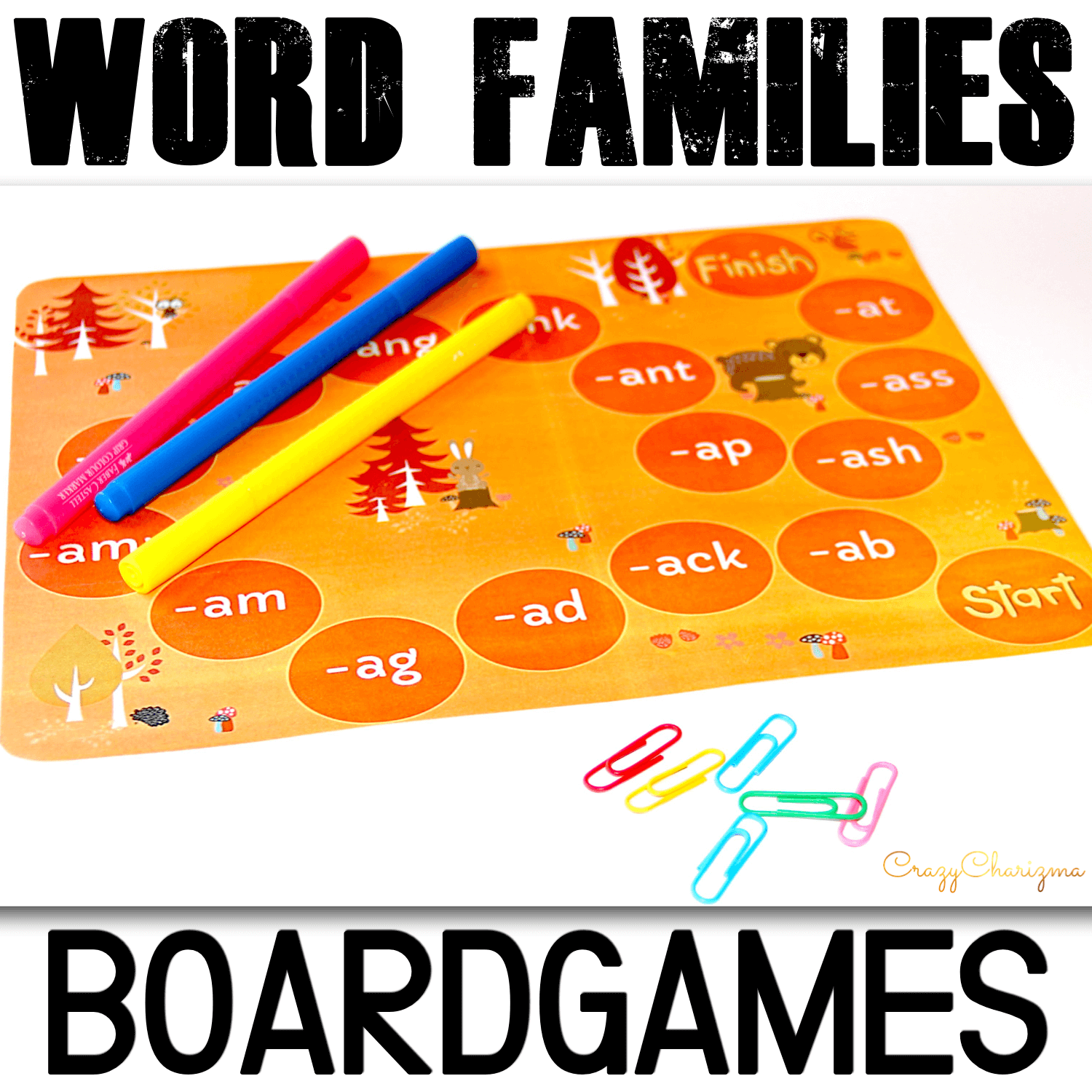 Practice short A, short O, short E, short I and short U words and word families with kids. These boardgames are perfect to use in fall (Halloween, Thanksgiving, leaves, forest). Appropriate for pre-k, kindergarten, and first grade students. Use in/for literacy centers, small groups.