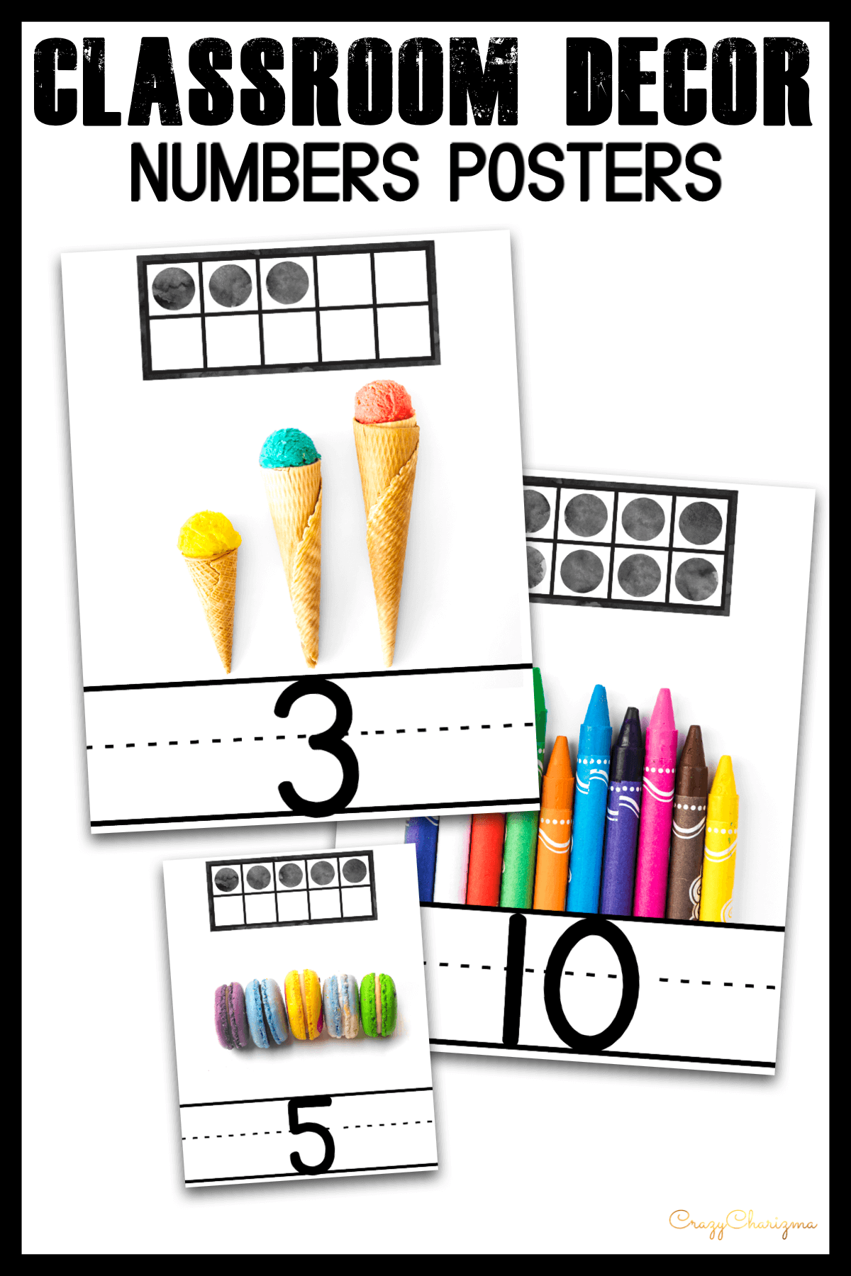 Use these bright number posters in your classroom or homeschool. Find inside Number Cards with real pictures and frames. (1-20)