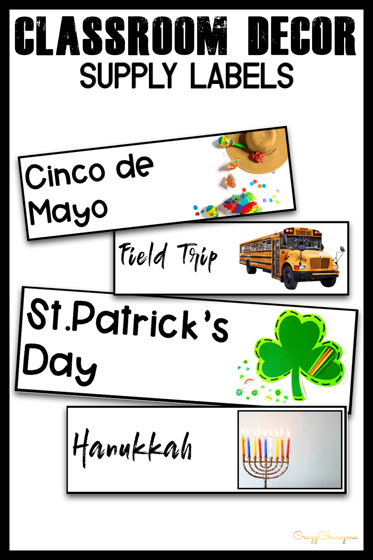 Looking to brighten up your classroom this year? This set will add some fresh and clean style to your classroom. Included in this resource are 24 pre-made school Holidays and Special Events cards in 2 styles! They are perfect to incorporate into your classroom.