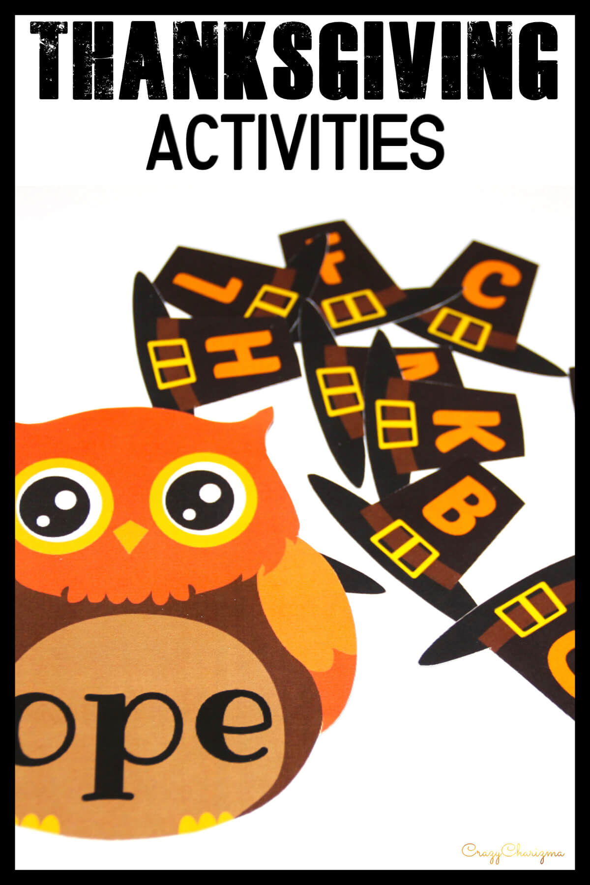 Practice phonics with these Thanksgiving activities - dress up the owls! These printables are perfect for kids in preschool, kindergarten, first and second grade.