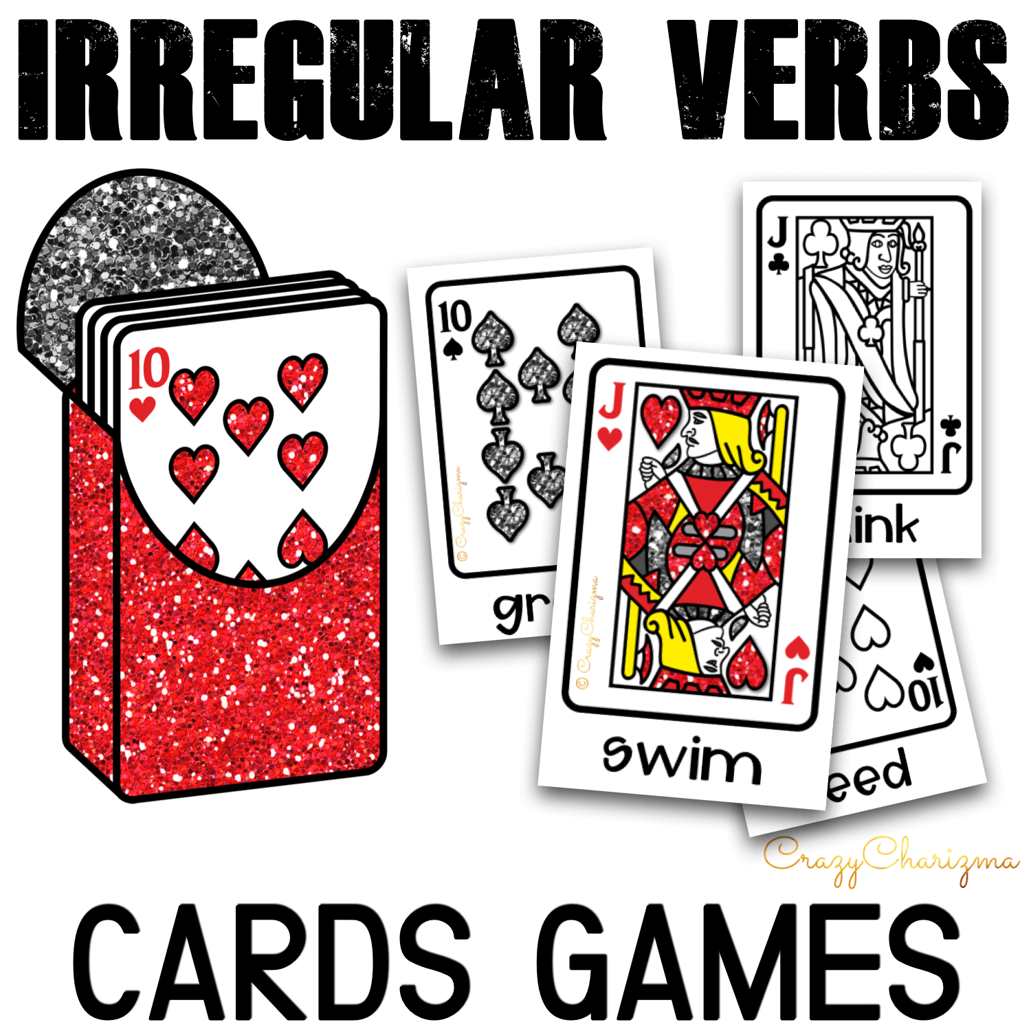 There can't be too many games to practice irregular verbs, right? Use the cards and play with irregular verbs in 10 engaging ways! Print in full color or B&W and start using in your classroom.