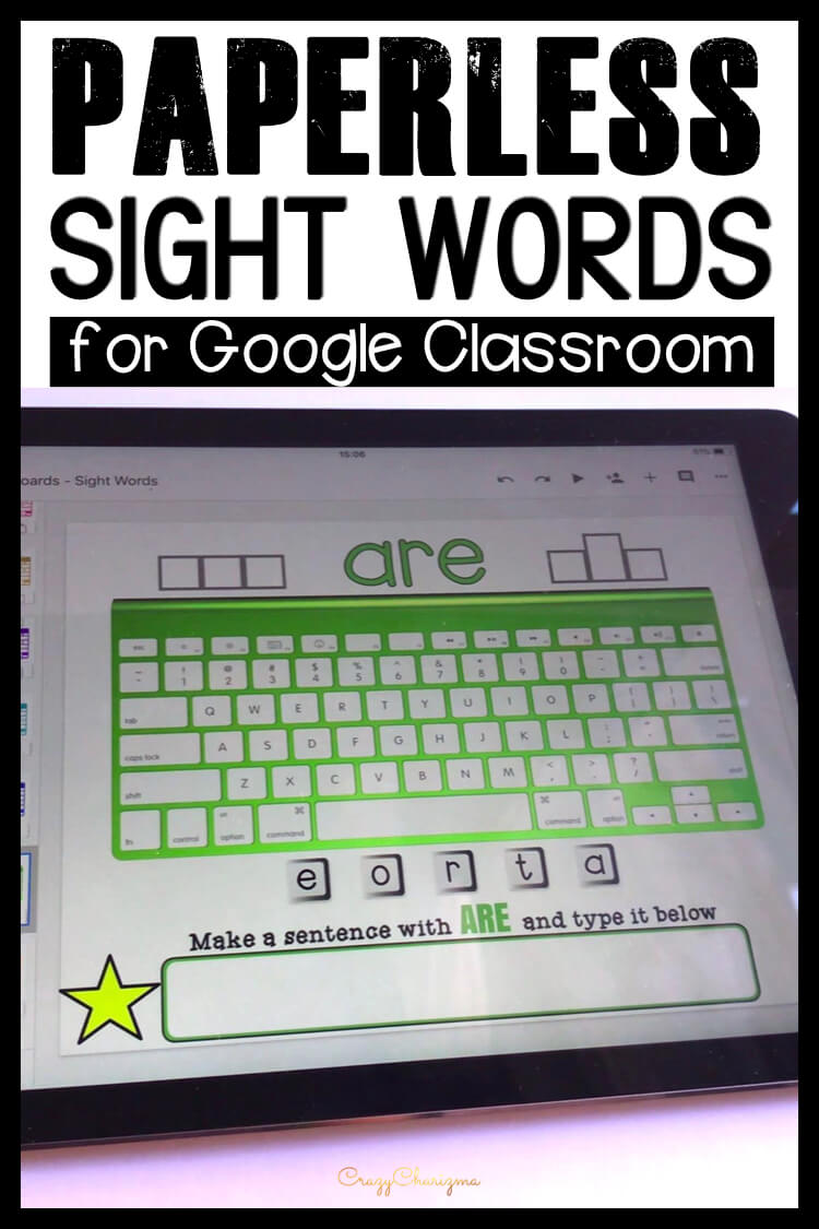 Google Classroom Activities for Kindergarten | Sight Words Games: Grab paperless resources to practice sight words in a fun way. Let kids get engaged with word work and play with high-frequency words. They will love typing words, learn the keyboard, and build sentences.