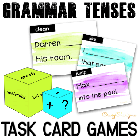 There can't be too many games to practice verb tenses, right? Roll the dice and transform sentences on the task cards! Print in full color or B&W. Take advantage of 5 engaging ways on how to use the cards.