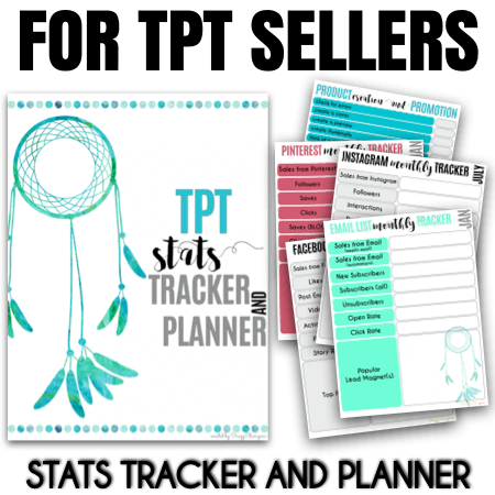 If you take TPT seriously, you definitely track your business growth and stats. This TPT planner and seller binder will help you set your goals, plan your product creation, get the product creation list and marketing plan, track social media and email list stats. And so much more.