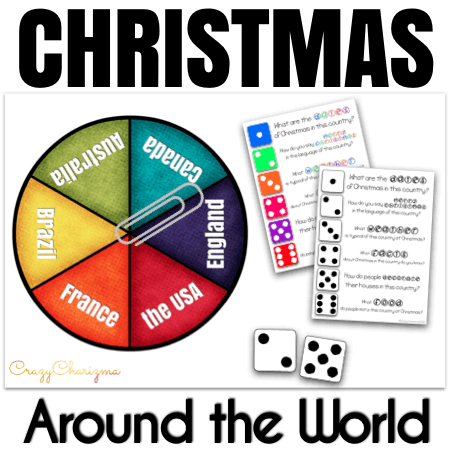 Looking for fun Christmas Activities for 3rd grade? Travel with these editable spinners and discuss Christmas Around the World. Its traditions, facts, and secrets.