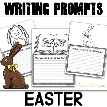 Need engaging writing prompts about Easter? Let your kids write about Easter symbols, their favorite Easter candy, how to color eggs, create an Easter acrostic poem and much more!
