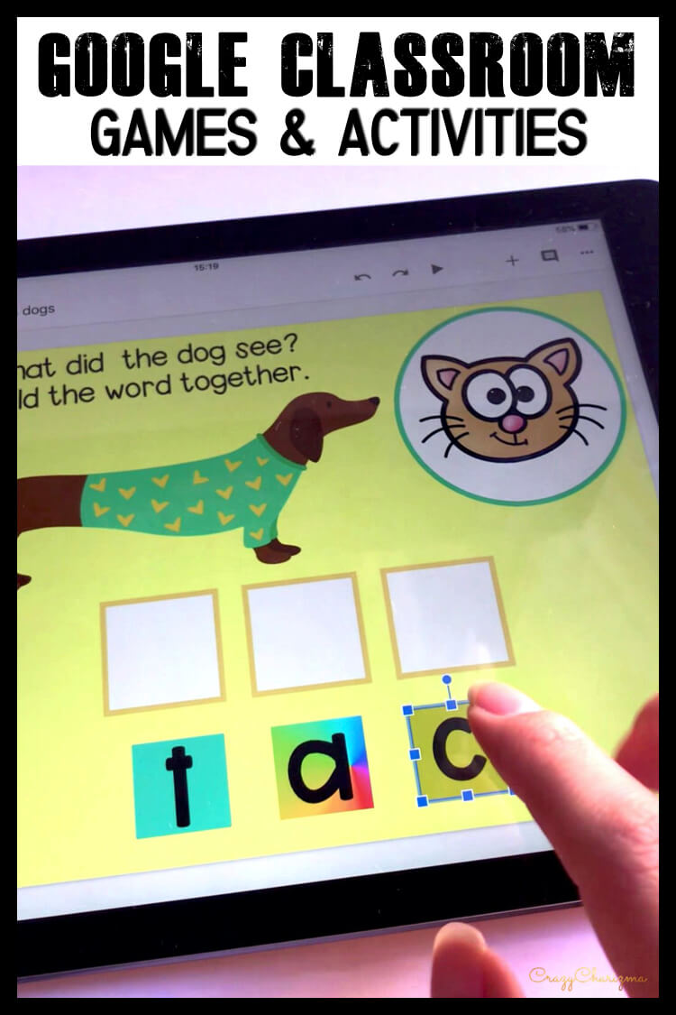 Google Classroom Activities for Kindergarten | CVC words: Want to practice CVC words in a fun and easy way? Try Google Classroom™ activities on Chromebooks and iPads. Keep kids engaged and inspired!
