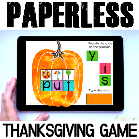 Need engaging Thanksgiving activities for kids? Grab this paperless game for Google Classroom kindergarten. Kids will have fun with reading sight words and typing the words.