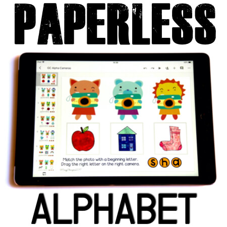 Google Classroom Activities for Kindergarten. Alphabet games. Need to play with alphabet and practice beginning sounds? Help kids learn letters and words. Engage your kids with Google Classroom™. Use in phonics centers in the classroom as well as at home with parents. #CrazyCharizma #GoogleClassroom #GoogleClassroomKindergarten #HandsOnActivitiesForKids #PaperlessClassroomElementary #PhonicsActivities