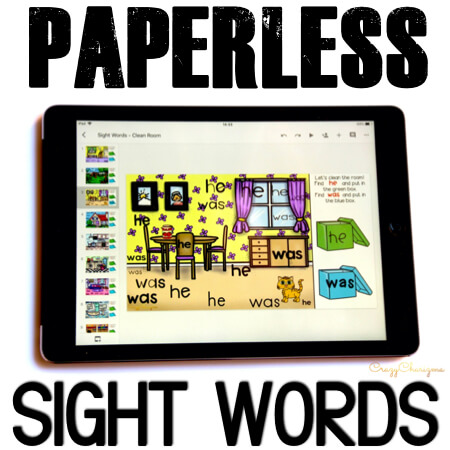 Google Classroom Activities for Kindergarten. Sight Words Games. Do you need a new way to teach sight words in kindergarten? Check out Google Slides and Google Classroom activities! Get kids engaged and let the play with sight words! #CrazyCharizma #GoogleClassroom #GoogleClassroomKindergarten #HandsOnActivitiesForKids #PaperlessClassroomElementary #SightWordActivities