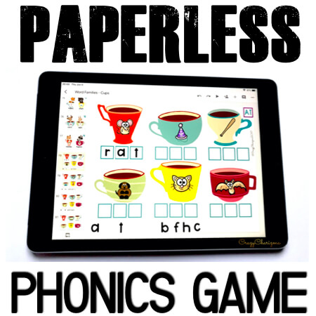Google Classroom Activities for Kindergarten, phonics Games. Practice CVC words, CVCe words and other phonics in a fun way! Train kids to type words and add the missing initial/medial/final letters to the words. Google Classroom in kindergarten can be fun! #CrazyCharizma #GoogleClassroom #GoogleClassroomKindergarten #HandsOnActivitiesForKids #PaperlessClassroomElementary #PhonicsGames