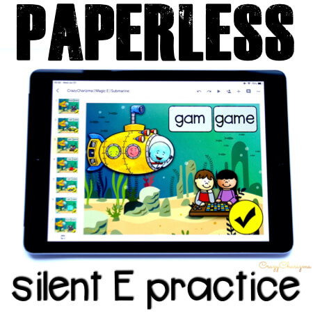 Need a cool game to practice magic E? No matter what they call it (silent e or sneaky e), your kids will enjoy this paperless activity. It's perfect for iPads and Chromebooks. Have fun with Google Classroom!