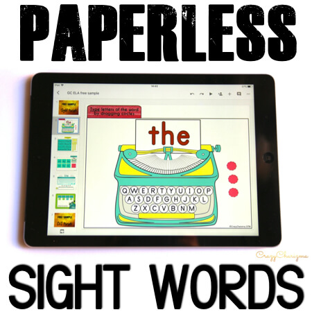 Google Classroom Activities for Kindergarten Sight Words Games. Looking for fun Google Classroom activities for kindergarten to practice sight words? Get these games and engage kids with sight words. #CrazyCharizma #GoogleClassroom #GoogleClassroomKindergarten #HandsOnActivitiesForKids #PaperlessClassroomElementary #SightWordsActivities