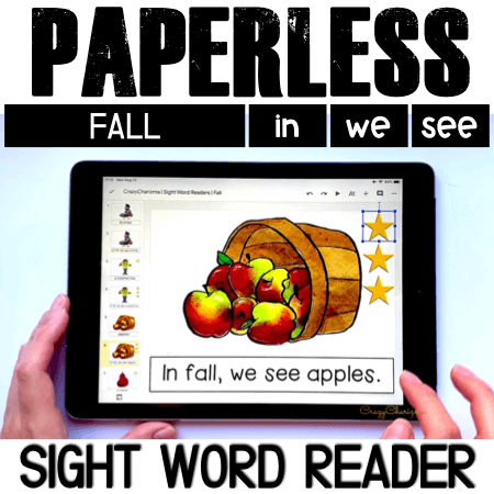 Looking for engaging sight word readers for kindergarten? Engage kids with reading sight words sentences in fall. Use as paperless practice for Google Classroom or print and read!
